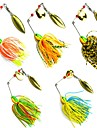 5 pcs Appat metallique Spinnerbaits Leurre Buzzbait & Spinnerbait leurres de peche Leurre Buzzbait & Spinnerbait Appat metalliqueCouleurs