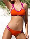 Pentru femei Bikini Bloc Culoare Cu Bretele Cheeky Bustieră Fașă Elastică