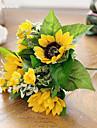 Flori artificiale 1 ramură Stil modern Floarea soarelui Față de masă flori