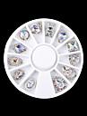 1 pcs Metallisk / Mode Söt / Flerfärgad skärm / Mousserande Dagligen Nail Art Design / Vackert