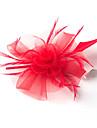Feder / Netz Fascinatoren / Blumen mit 1 Hochzeit / Besondere Anlaesse Kopfschmuck