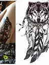 1 Tatouages Autocollants Series animales Series de totem Impermeable 3DHomme Femme Adolescent Tatouage Temporaire Tatouages temporaires