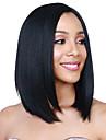 人工毛ウィッグ 女性用 ストレート ブラック 合成 ブラック かつら ショート キャップレス ブラック