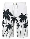 Bărbați Larg Simplu Boho Activ Talie Medie,Micro-elastic Pantaloni Scurți Pantaloni Imprimeu