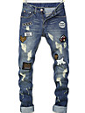 Bărbați Drept Blugi Pantaloni Chinos Pantaloni Simplu Solid Casul/Zilnic Talie Medie Fermoar Buton Bumbac Micro-elastic Primavara toamnă