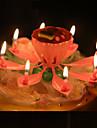musikaliska lotusblomma stearinljus grattis på födelsedagen ljus för fest present lampor dekoration