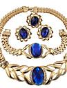 Seturi de bijuterii Inel Colier / bratara Cristal Personalizat Floral Design Circular Γεωμετρικά Design Unic Ștrasuri Modă Euramerican