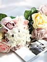 """Flori de Nuntă Rotund Cascadă Trandafiri Buchete Nuntă Petrecere / Seară Poliester 7.09""""(Approx.18cm)"""