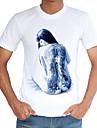 Bărbați Rotund Tricou Casul/Zilnic Plajă Nuntă Vintage Simplu(ă) Șic Stradă,Imprimeu Manșon scurt Primăvară Vară-Subțire Poliester