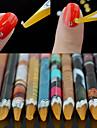 1PCS Autocollant d\'art de clou Guide Conseils francais Maquillage cosmetique Nail Art Design