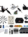 BaseKey Maszynka do tatuażu Profesjonalny zestaw do tatuażu - 2 pcs Maszyna do tatuowania Zasilanie LED Etui w komplecie 2 Maszynka liner/shader ze stali