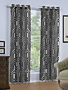 Hyls-topp En panel Fönster Behandling Moderna, Tryck Geometrisk Vardagsrum Linne/Polyesterblandning Material gardiner draperier
