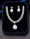 Bijuterii 1 Colier 1 Pereche de Cercei Zirconiu Cubic Nuntă Petrecere Ocazie specială Zilnic Casual Zirconiu 1set Argint Cadouri de nunta