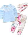 Fete Set Îmbrăcăminte Mată Floral Bumbac Poliester Petrecere Zilnic Ieșire Primăvară Toamnă Toate Sezoanele Manșon Lung Floral Dantelă