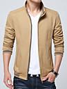Bărbați Stand Zvelt Jachetă De Bază - Mată