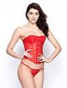 fabulos bumbac plastic dantelă-up spate corset set (mai multe culori) lingerie Shaper