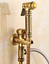 Antik Endast dusch Handdusch inkluderad Keramisk Ventil Ett hål Singel Handtag Ett hål Antik mässing, Bidé Kran