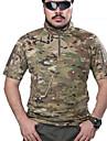 Herre Jagt T-shirt m. camouflagemønster Udendørs Taktisk Toppe Forår Sommer Efterår Kortærmet Jagt, Fritidssport