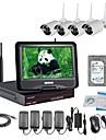 strongshine® trådlös ip kamera med 960p infraröd vattentät och nvr 10,1 tums LCD 2TB övervakning hdd kit