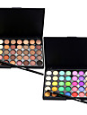 40 Color Eyeshadow (2 Color Set to Choose)+ 1 Eyeshadow Brush Fards a Paupieres Pinceaux de Maquillage Sec Mat Lueur OEil Visage Etendu
