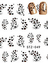 10pcs/set Vattenövergångsklistermärke Nail Sticker Nail Stamping Mall Nail Art Design Nail Decals