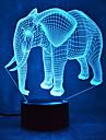 Crăciun elefant rămâne estompare 3d a condus lumina de noapte 7colorful decorare lampă atmosferă de iluminat noutate lumina de Crăciun