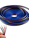Ligne de cable d\'extension 4 couleurs 10m rgb pour bande led rgb 5050 3528 cordon 4pin