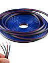4 culoare 20m rgb linia de cablu prelungitor pentru benzi led rgb 5050 3528 cord 4pin