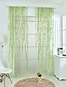 Rod Pocket One Panel Curtain Country, Print Living Room Polyester Material Sheer Curtains Shades Home Decoration