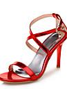 Damă Sandale Noutăți Pantofi Club Piele Originală Materiale Personalizate Vară Nuntă Rochie Party & Seară Piatră Semiprețioasă Cataramă