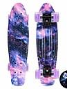 22 inch kryssnings skateboarden Professionell PP (Polypropen) ABEC-11-Purpur Blå Rosa Stjärnor