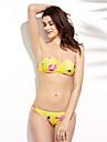 Dame Poliester Push-up Bustieră,Bikini Floral Mulată Floral