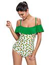 Femei O Piesă Femei Bustieră Floral Polyester Spandex