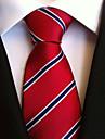 Bărbați Dungi Vintage Petrecere Birou Linii Cravată
