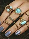 Femme Turquoise Original Mode Vintage bijoux de fantaisie Alliage Bijoux Pour Soiree Quotidien Decontracte