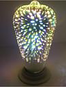 4W 500 lm E27 LED-globlampor ST64 28 lysdioder Integrerad LED 3D Firework Dekorativ Varmvit 85-265V