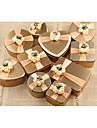 Rotund / Pătrat / Cubic Fier (placat cu nichel) Favor Holder cu Imprimare Cutii de Savoare / Sticle și Borcane pentru Dulciuri / Cutii de