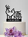 Vârfuri de Tort Personalizat Acrilic Nuntă Aniversare Petrecerea Bridal Shower Temă Grădină Temă Clasică OPP