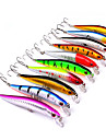 10 pcs ハードベイト / ミノウ / ルアー ハードベイト / ミノウ / ルアーパック 硬質プラスチック / プラスチック 海釣り / ベイトキャスティング / スピニング / 川釣り / バス釣り / ルアー釣り / 流し釣り / 船釣り