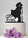 Vârfuri de Tort Personalizat Cuplu Clasic Acrilic Nuntă Aniversare Petrecerea Bridal Shower Temă Grădină Temă Clasică OPP