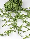 20 meter zijde bladvormige kunstmatige groene bladeren voor bruiloft decoratie diy krans geschenk scrapbooking ambachtelijke nep bloem