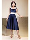 A-Linie Princess Popruhy K lýtkům Satén Šaty pro družičky s Nabírání Šerpa / Stuha podle LAN TING BRIDE®