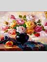 Peint a la main Nature morte Panoramique Horizontale,Moderne Classique Un Panneau Toile Peinture a l\'huile Hang-peint For Decoration