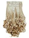 Волосы Кудрявый Волнистый Классика Искусственные волосы Наращивание волос На клипсе Повседневные