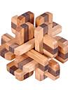 Puzzles en bois IQ Casse-Tete Casse-tete Chinois Cadenas Carre Test de QI Bois Unisexe Cadeau
