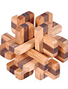 Puzzle Lemn Jocuri IQ Kong Ming Lock Luban de blocare Pătrat Test de inteligenta Lemn Unisex Cadou