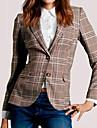 Pentru femei În V Jachetă Culoare Mixtă, Imprimeu Bumbac