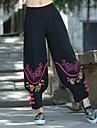 Pentru femei Chinoiserie Larg Larg Pantaloni Chinos Pantaloni - Imprimeu, Multicolor