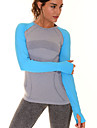 Yoga Tee-shirt / Hauts / Top Sechage rapide / Respirable / Confortable / Lisse Haute elasticite Vetements de sport Yoga / Pilates /
