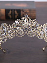 Rhinestone Alloy Tiaras Headwear with Floral 1pc Wedding Special Occasion Headpiece